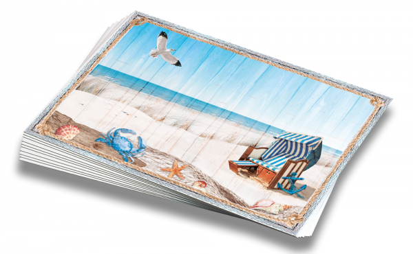 "Postkarten-Set ""Meeresbrise"" (10 Stück) | Grußkarten, maritim"