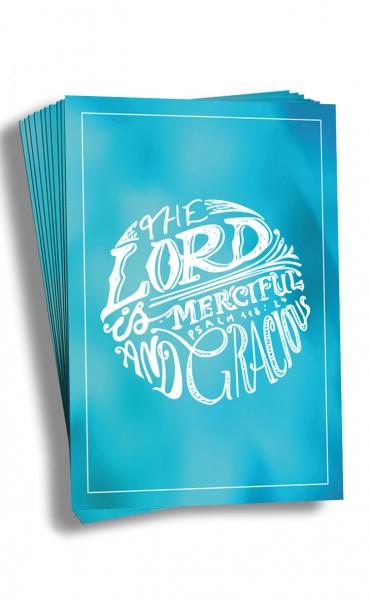 "Postkarten-Set ""The Lord"" (10 Stück)| christliche Grußkarte, blau"
