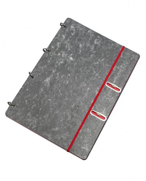 "Notizbuch ""Ringbuch 360° - rot"" | flexibel, nachfüllbar | Vorderansicht"