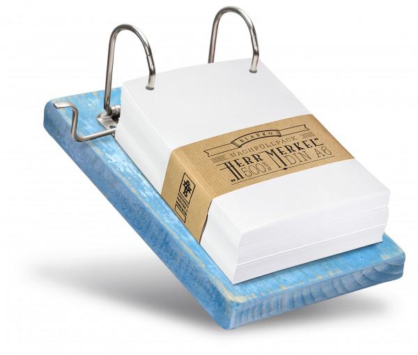 Die Füllmenge des Zettelhalters kann selbst bestimmt werden.