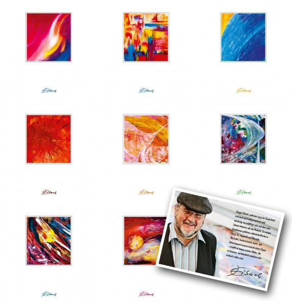 "Kunstkarten Set ""Nr. 1-8"" - Jürgen Eibach | Grußkarten-Set, Klappkarten"