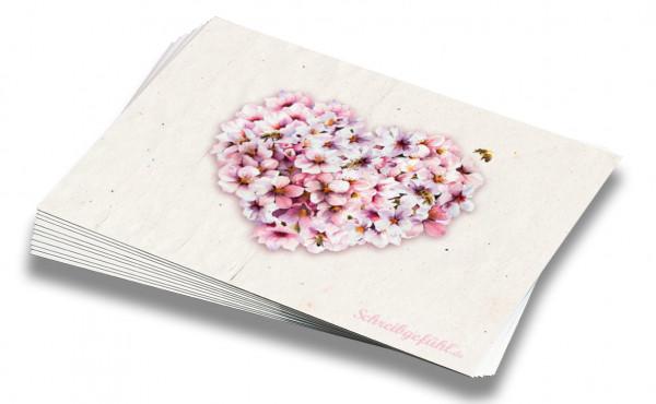 10 Postkarten mit liebevollem Blüten-Motiv