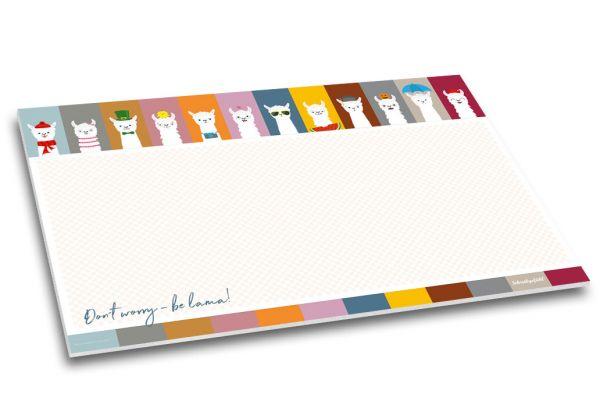 Diese farbenfrohe Alpaka-Schreibtischunterlage sorgt für jede Menge gute Laune!