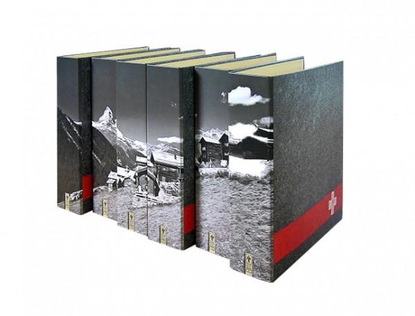 "Motivordner-Set ""Matterhorn"" | Schweiz, grau | Perspektivansicht"