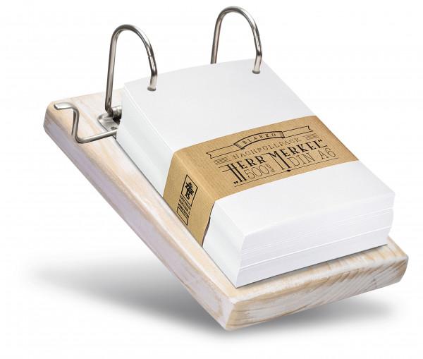 Der Notizzettelhalter bietet viel Platz für Telefon-Mitschriften, Notizen und gute Ideen.