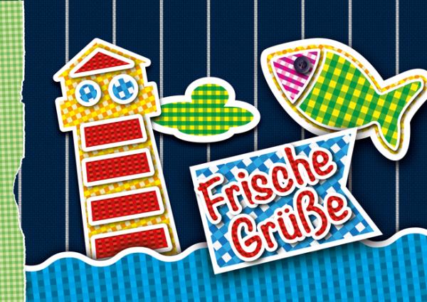 """Grußkarte """"Frische Grüße - Kindness Collection""""   Klappkarte, neutral   Detailansicht"""