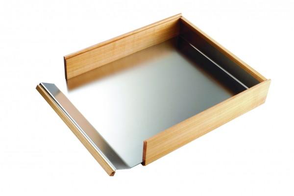 Dokumentenablage aus Kirschholz und Edelstahl | Briefablage, Holz