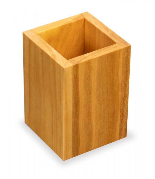 Stiftebox aus Kirschholz | Stiftehalter, Holz mit Deko