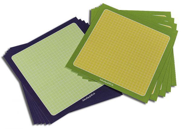 "Moderationskarten ""Aubergine"" + ""Limette"" | quadratisch, 10 Stück"