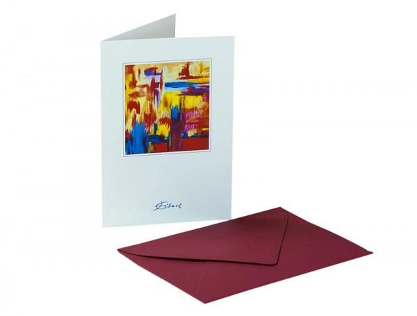 "Kunstkarte ""Nr. 2"" - Jürgen Eibach | Grußkarte, Klappkarte | Karte mit Umschlag"