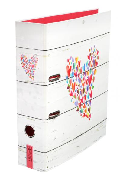 """Praktisch, schön und einfach liebevoll gestaltet: der farbenfrohe Motivorder """"Mit Liebe""""."""