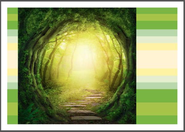 "Postkarte ""Märchenwald - Farbenspiel"" | Grußkarte, Wald"