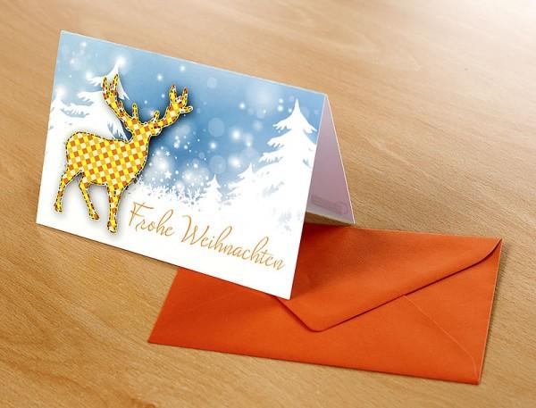 """Grußkarte """"Frohe Weihnachten!"""""""