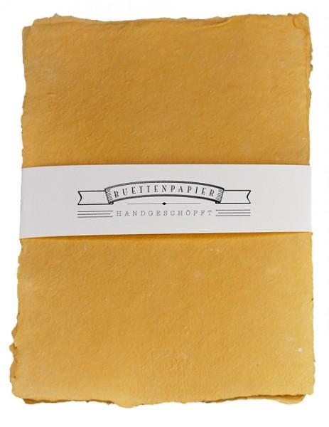 Büttenpapier (3 Blatt) | handgeschöpft, Strukturpapier | banderoliert