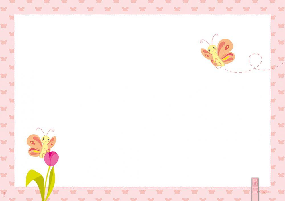 schreibtischunterlage papier 40 blatt 42 x 29 7 cm butterfly m dchen ebay. Black Bedroom Furniture Sets. Home Design Ideas